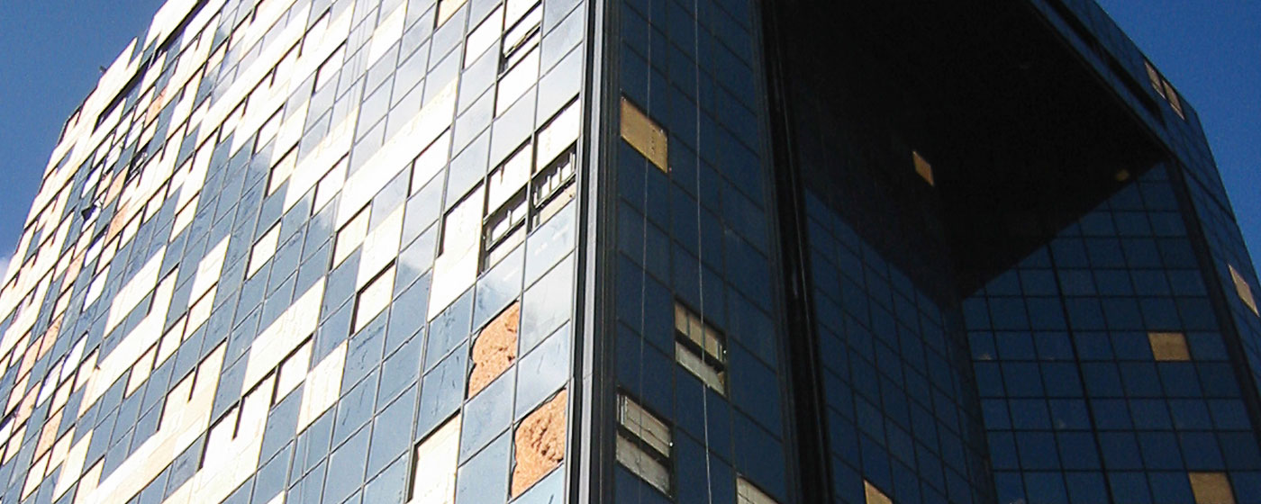 commercial-hurricane-building-window-damage-hurricane