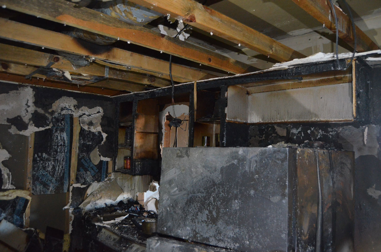 Apartment Fire Damage in Kitchen